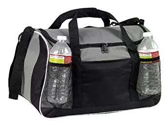 Sports Gym Duffel Bag Large Zipper Opening, Gray