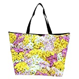 Snoogg Dreams Fields Flower Designer Waterproof Bag Made of High Strength Nylon