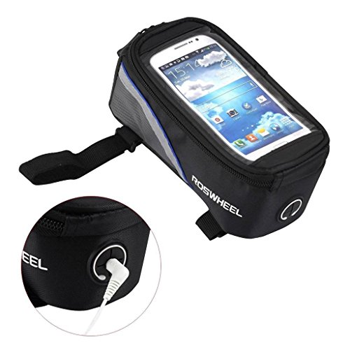 Supporto Bici Custodia Fascia BLU Cellulare Bicicletta Borsa per SAMSUNG NOKIA LUMIA IPHONE