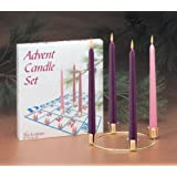 Biedermann & Sons Advent Candle Set Ring And 4 Candles