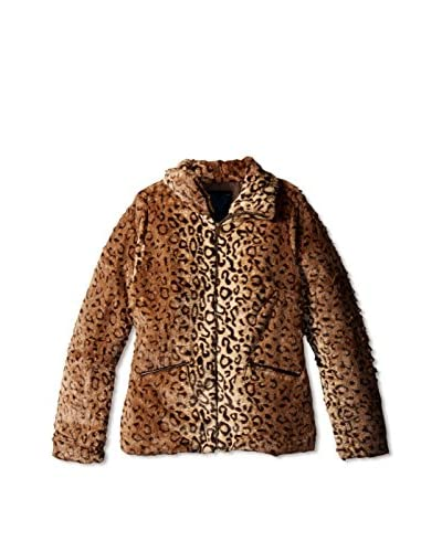 Yoki Women's Leopard Faux Fur Jacket
