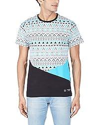 Tiktauli de Corps Men's Round Neck Cotton T-Shirt (8904203029368_MSTESC15094/BLK_M_Black)