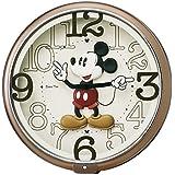 SEIKO CLOCK(セイコークロック) ディズニー ミッキーマウス ディズニータイム クオーツ掛時計(茶メタリック塗装) FW576B