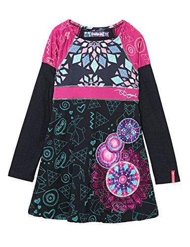 Desigual Yamusukro, Vestito Bambina, Blu (Estado), 152 cm (Taglia Produttore: 12/11/2016)