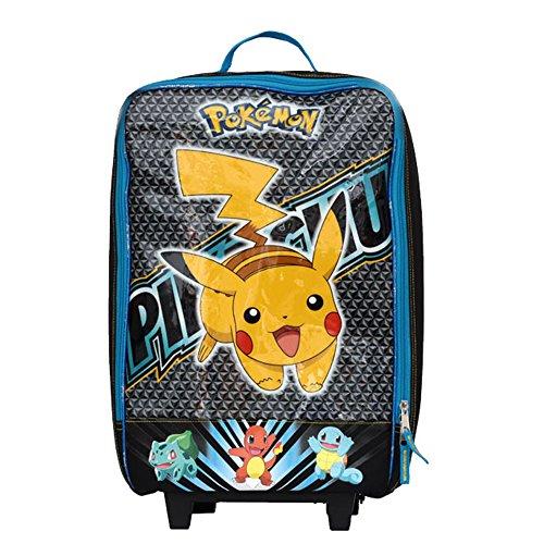 Pokemon Pikachu 16 Inch Pilot Case Wheel, Blue/Yellow
