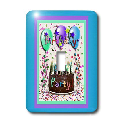 lsp_20219_1 Beverly Turner Birthday Invitation Design - Birthday Party Chocolate Cake 80th - Light Switch Covers - single toggle switch