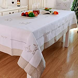 Amazon.com - Ustide Holiday Gathering Tablecloth Hand Embroidery Table