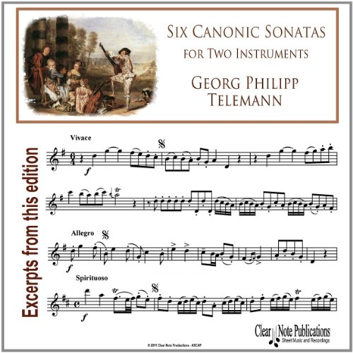 Six Canonic Sonatas (for Two Instruments)