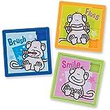 Brush Floss Smile Monkey Slide Puzzles - Dentist Office Giveaways - 48 per Pack