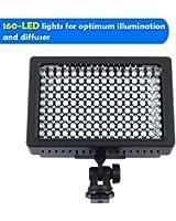 Lightdow 160 Leds Caméra Vidéo Lampe LED Pro Eclairage pour Caméscope Appareil Photo Reflex Numérique