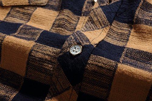 SSLR Men's Gingham Flannel Vintage Long Sleeve Shirt 4
