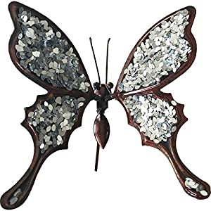 50cm Glitter Butterfly Silver from CF Designs