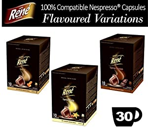 Choose 30x Nespresso Compatible Variations Coffee Capsules - Vanilla Caramel Chocolate by Café Réne