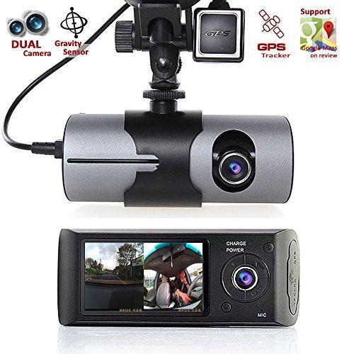 Indigi HD Dual Camera Front+InCab Driving Recorder Car DVR GPS+Gravity Sensor FREE 32GB