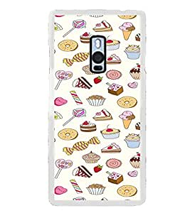 ifasho Animated food pattern Back Case Cover for OnePlus 2