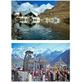DollsofIndia Hemkund Sahib & Kedarnath Temple (2 Postcards) 6 X 4 Inches