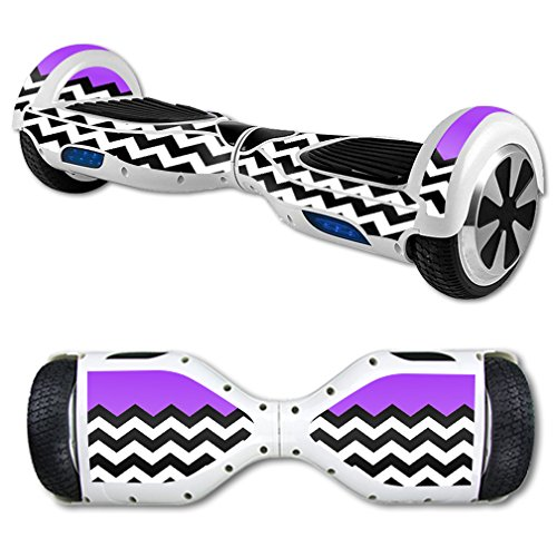 MightySkins Protective Vinyl Skin Decal for Hoverboard Self Balancing Scooter mini hover 2 wheel unicycle wrap cover sticker Purple Chevron