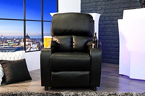 Eleganter Kinosessel HALL OF FAME schwarz mit Cupholder Sessel ...