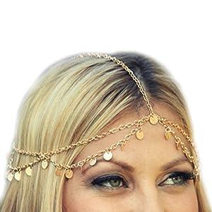 Lisli Women Fashion Rhinestone Head Chain Jewelry Headband Hair Band