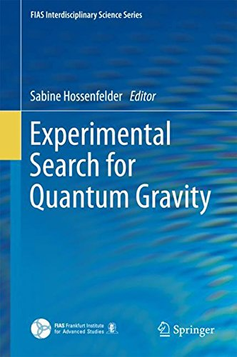 Experimental Search for Quantum Gravity (FIAS Interdisciplinary Science Series) (Tapa Dura)