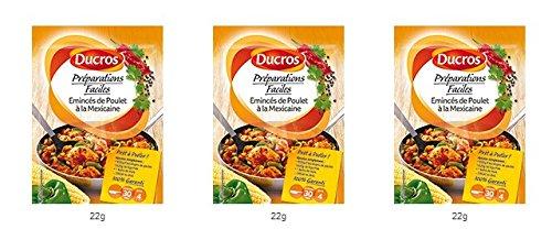DUCROS - Solutions Cuisson - Preparations Faciles Pret a poeler - Eminces de Poulet a la Mexicaine - 22 g - lot de 3