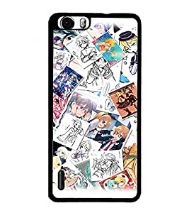 PrintDhaba Cartoon Images D-3829 Back Case Cover for HUAWEI HONOR 6 PLUS (Multi-Coloured)