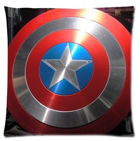 Superhero Series Captain America Shield Custom Zippered Throw Pillow Case 18x18 inch (two side) (Super Bowl Singer compare prices)