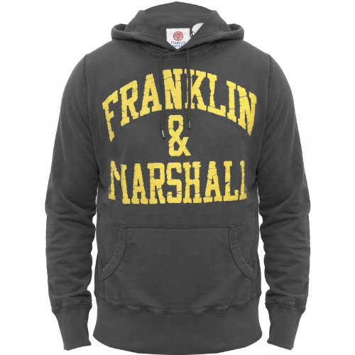 Franklin & Marshall Mens Hoody Genuine Quality Hooded Top FLMC025 Grey X-Large