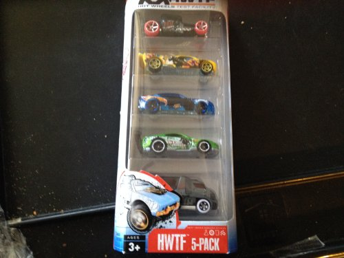 Hot Wheels Test Facility HWTF 5-Pack Exclusive - Drift King Wheel Variation/Error Set! - 1