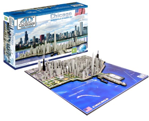 Cheap 4D Cityscape 4D Chicago Skyline Time Puzzle (B0041O41YC)