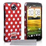 Yousave Accessories HT-DA01-Z962 Phone Case / Screen Protector / Polishing Cloth for HTC One X Red / White