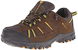 Columbia Youth Pisgah Peak Waterproof Trail Shoe (Little Kid/Big Kid), Mud, 6 M US Big Kid