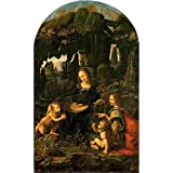 Tallenge Old Masters Collection - Madonna Of The Rocks By Leonardo Da Vinci - A3 Size Premium Quality Rolled Poster