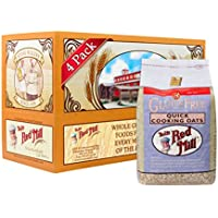 4 Pack Bob's Red Mill Gluten Free Quick Cooking Rolled Oats (32 Ounce)