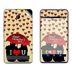 Skintice Designer Vinyl Skin Sticker for Sony Xperia E1, Design - Valentine couple