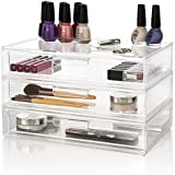 US Acrylic® Audrey 3-Pack Large Stackable Cosmetic Organizer Drawers