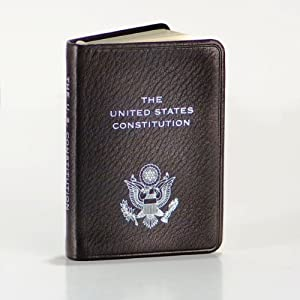 """United States Constitution, Pocket Size, Genuine Leather, Embossed American Eagle, 2-3/4"""" X 3-3/4"""""""
