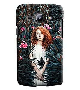 Blue Throat Girl In A Forest Printed Designer Back Cover/Case For Samsung Galaxy J1 Ace