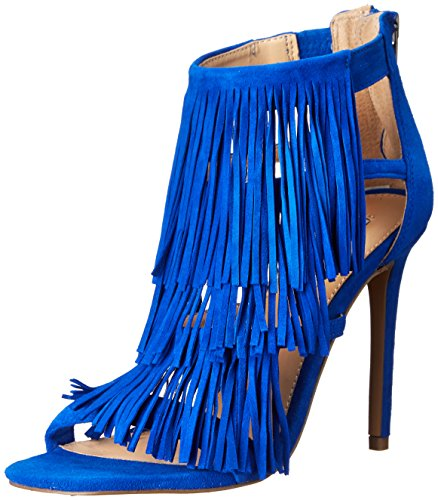 Steve Madden Fringly-Sandali con tacco donna blu Size: EU 38 (US 8)