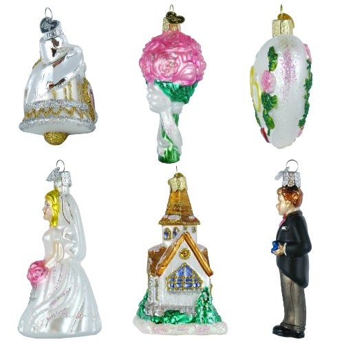 Old world christmas wedding collection ornament box set home garden