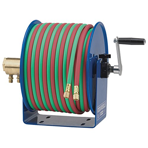 Coxreels 112W-1-50 Welding Hand Crank Hose Reel: 1/4 ID, 50' Twin Oxy-Acetylene Welding Hose, 200 PSI high opinion for free post welding mask shading welding mask welder cap for welding equipment chrome brushed