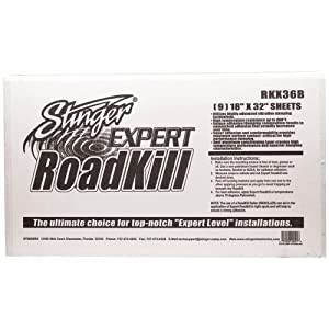 1 - RoadKill(R) Expert Bulk Pack, Vibration-damping adhesive sheets , Overall improved sound quality, RKX36B by STINGER