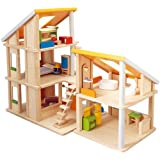 Plan Toy Chalet Doll House with Furniture ~ Plan Toys