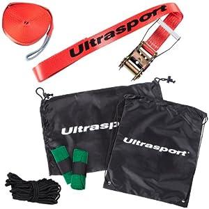 Ultrasport Slackline Set 15 m inkl. Baumschutz und Hilfsseil