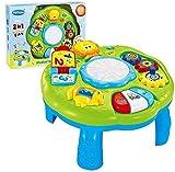 (ハッピータイム) Happytime 音楽学習テーブル グリーン 生後6ヶ月以降の幼児向け 知育用電子玩具