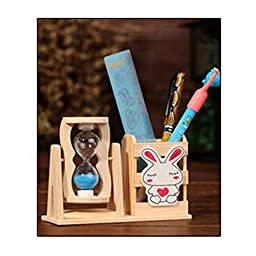 LadyHouse Wooden Gift Decoration Quicksand pen Container(C2)