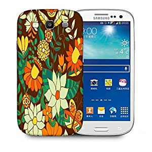 Snoogg Abstract Floral Background Designer Protective Back Case Cover For Samsung Galaxy S3