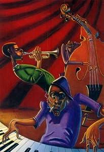 Jazz Trio Justin Bua Urban Nyc Art Poster Print Mini Poster Art Poster Print by Justin Bua, 9x11