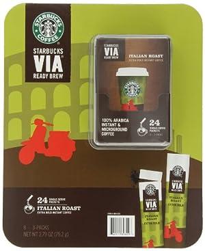 Starbucks VIA Ready Brew Coffe, Italian Roast, 24 Count