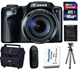 51jSn5x6%2BmL. SL160  Canon PowerShot HS MP CMOS Digital Camera with 30x Optical Zoom and 1080p Full HD Video Bundle + 16GB Card + Battery + Gripster Tripod + Case SX510 12.1